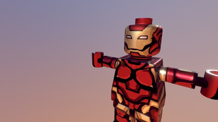 Lego IronMan by Felivans (Luis Felipe Garavito) 3D Model