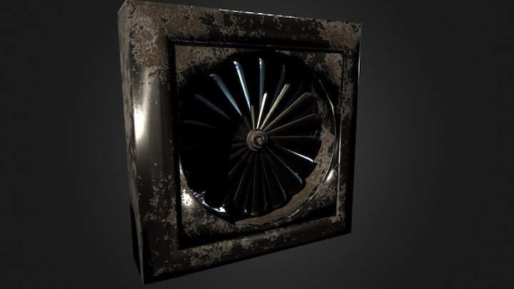 Water Room Fan 3D Model