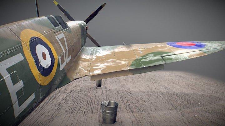 Spitfire Washing 3D Model