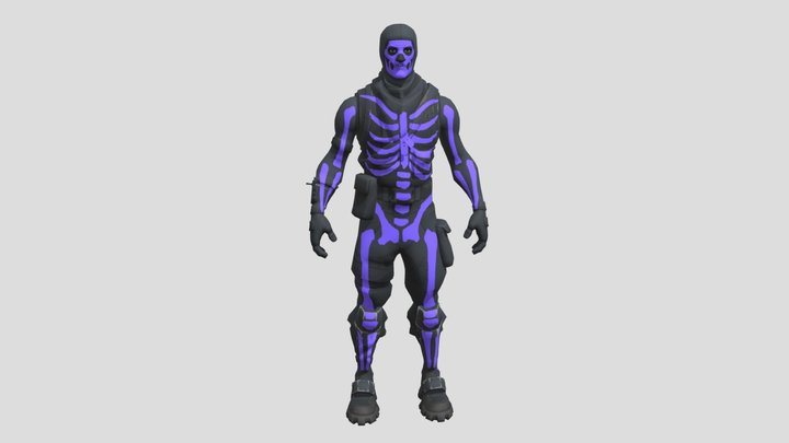 Skull Trooper (Purple) 3D Model