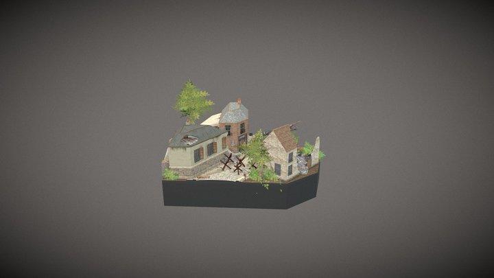 CityScene_Carentan_RetakeExamDAE_2019-2020 3D Model