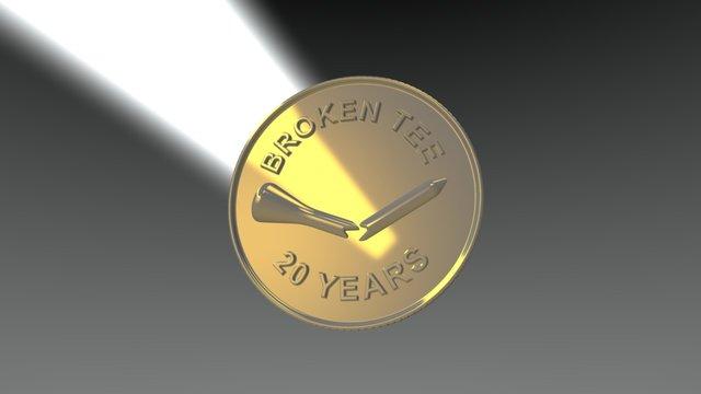 Broken Tee Anniversary Marker 3D Model