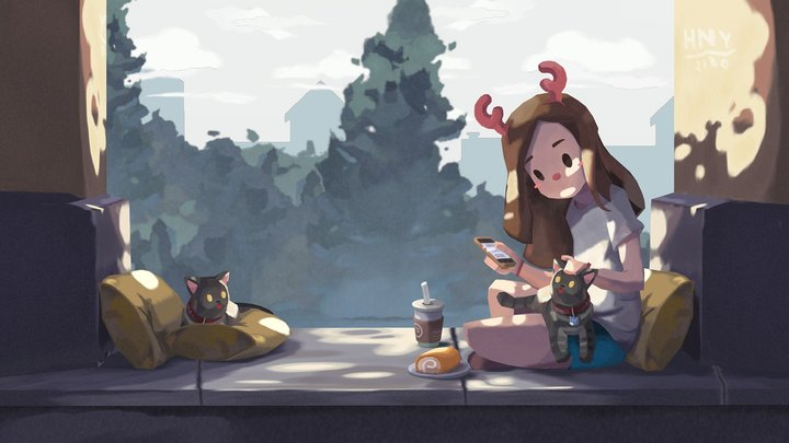 Summer Afternoon - Animated Short Film 3D Model