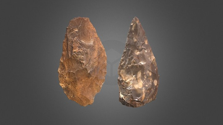 Handaxes (La Noira, FR) Lower(1) Upper(2) levels 3D Model