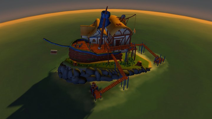 The Thirsty Wreckage 3D Model