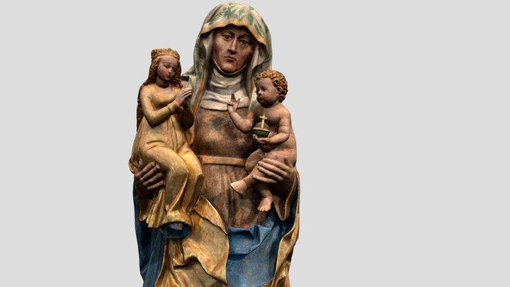 Soška Sv. Anny Samétřetí - Kostel sv. Anny 3D Model