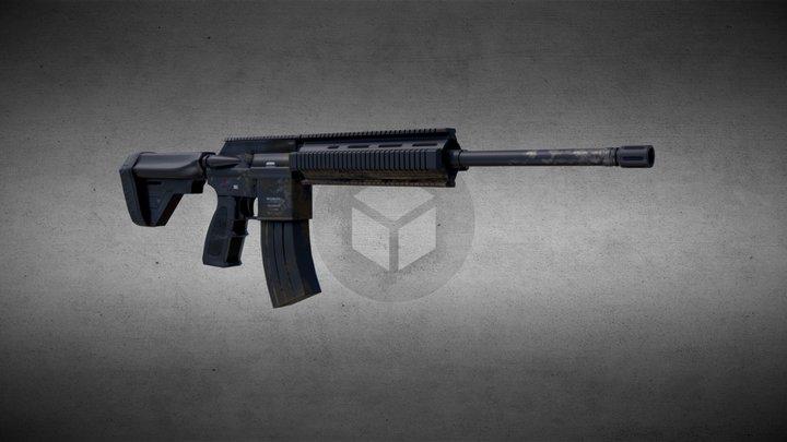 Military Rifle 3D Model