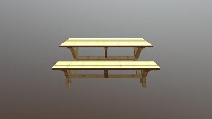 stôl a lavica.xml 3D Model