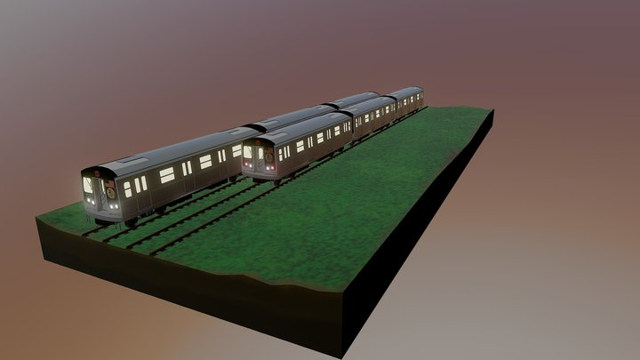NYC Subway above ground. 3D Model