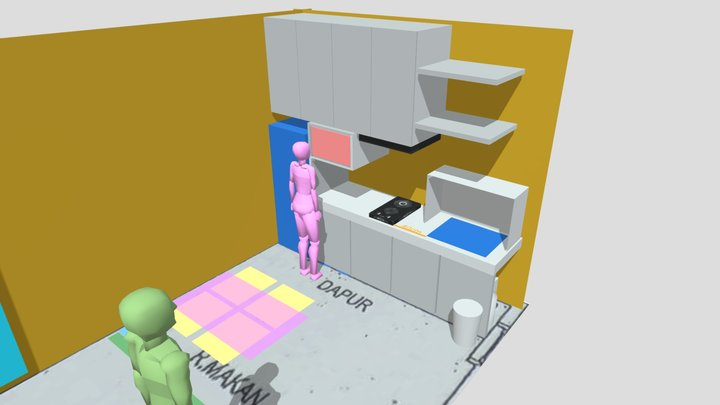 Kitchen Set2 3D Model