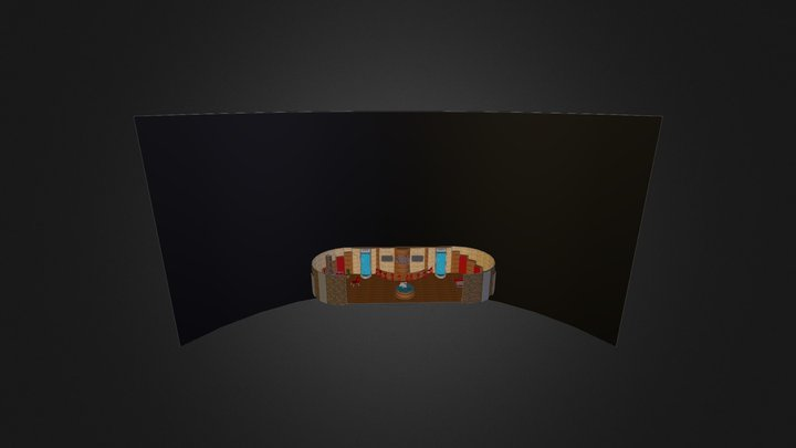 Skyline Hotel Bar 3D Model