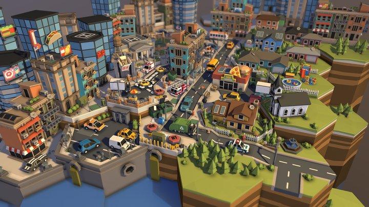 POLYGON Mini - City Pack 3D Model