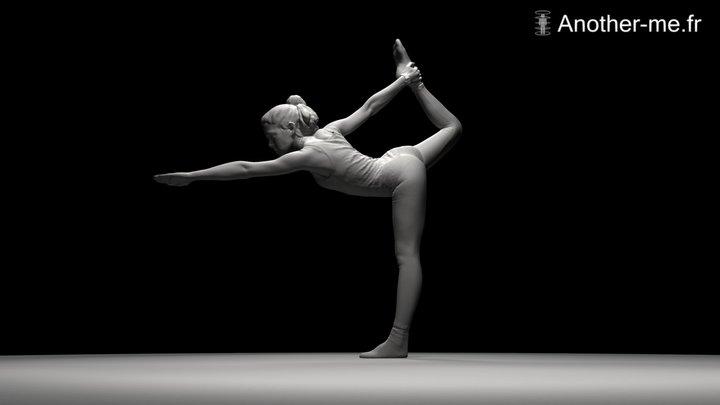 A. Yoga Pose 3D Model