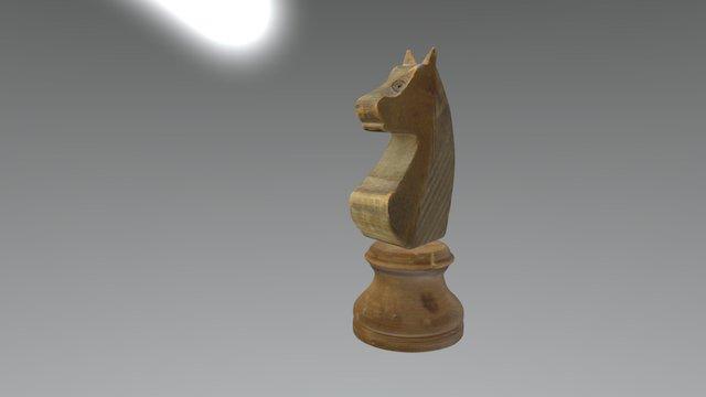 Wooden Knight (chess) 3D Model