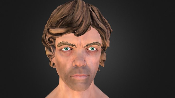 Tyrion Lannister FanArt Lowpoly Game of Thrones 3D Model