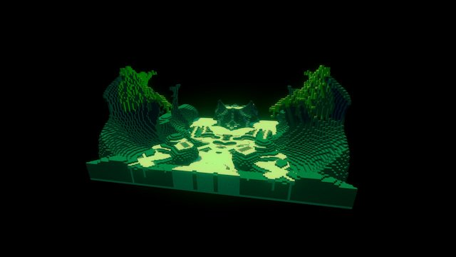 MountainOfDragons VoxelArt 3D Model