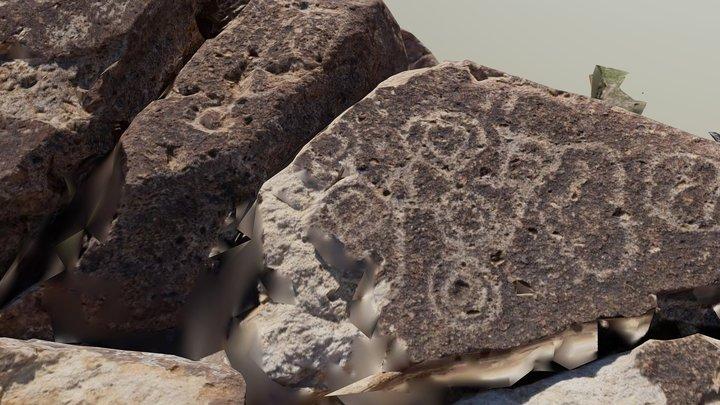 Petroglyphs Lightening  Ridge 3D Model
