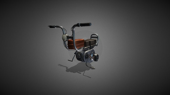 """""""SATURN"""" Hover bike 3D Model"""