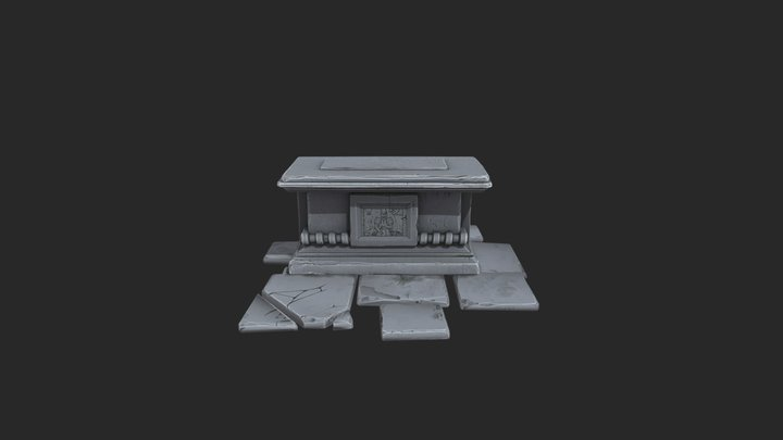Altar Medieval Zamurai 3D Model