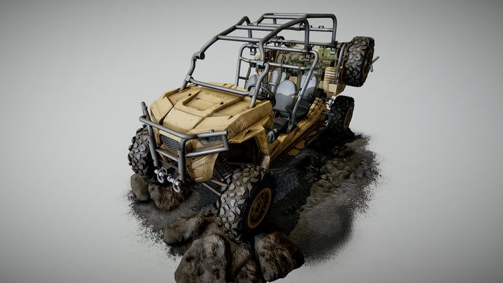 Polaris MRZR D4 | PlayStation 5 ready 3D Model