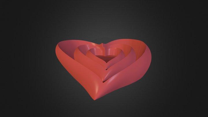 Valentine Vase & Dish Set 3D Model