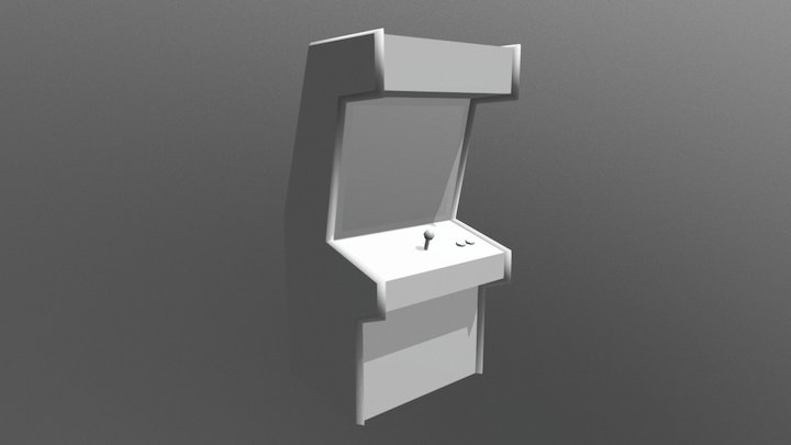 Arcade Machine Example 3D Model