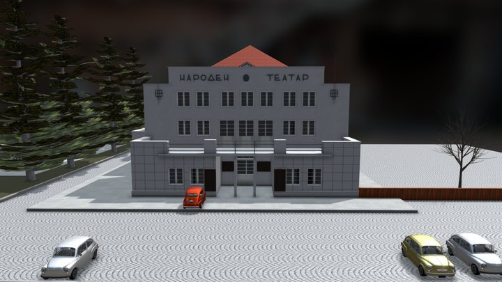 Old National Theater (Стар Народен театар) 3D Model
