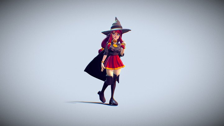 Red Witch 3D Model