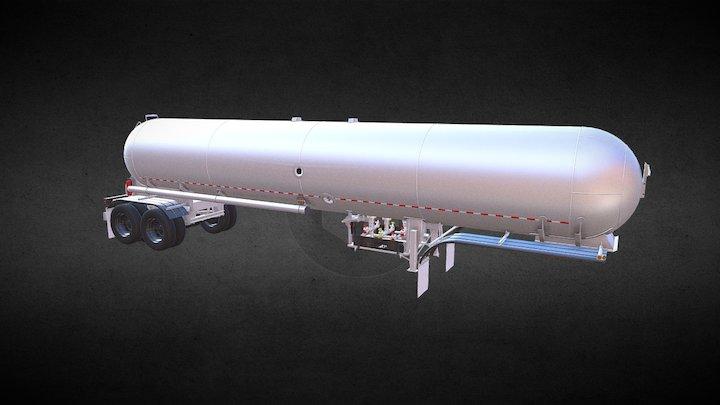 Dragon LPG/NH3 10600 gallons trailer 3D Model