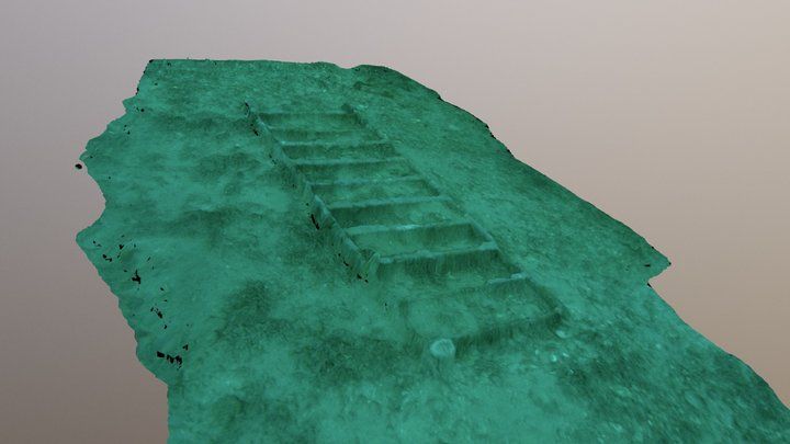 Ladder from inside mast to spotter tower 3D Model