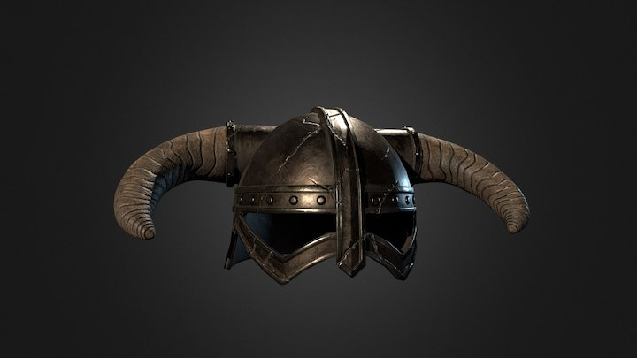 Skyrim Iron Helmet 3D Model