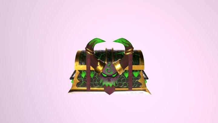 Demon Hunter Treasure Chest 3D Model