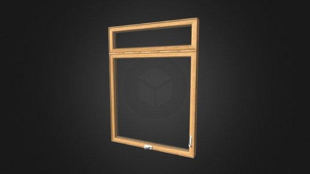Fenêtre à Manivelle Bois 3D Model