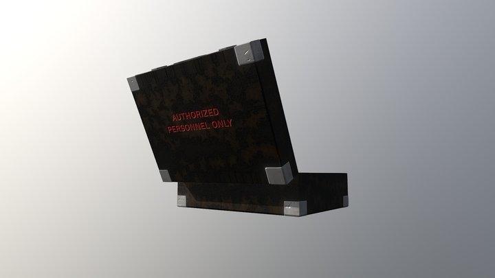 Open Briefcase 3D Model