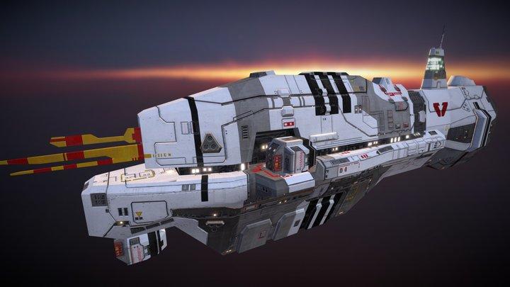 Vaygr Assault Frigate 3D Model