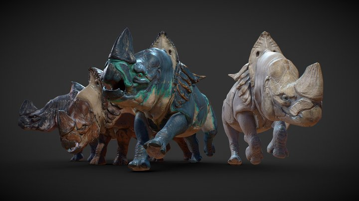 Alien Rhinoceros 3D Model