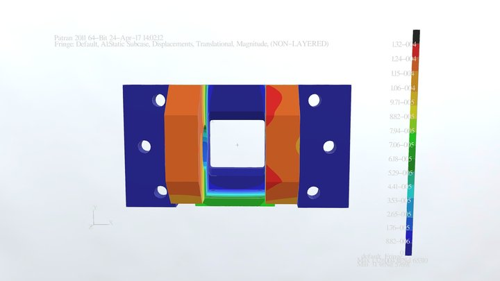 Simple FEM analysis 3D Model