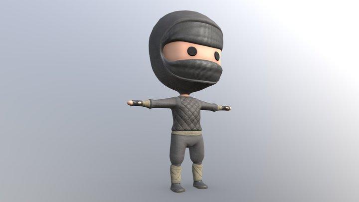 Chibi Ninja 3D Model