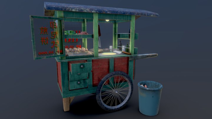 煎饼车/Gerobak Lumpia 3D Model