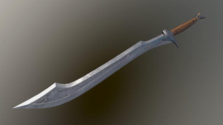 Sword - low poly 3D Model