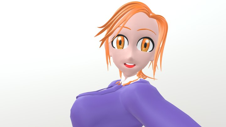 Anime Girl Original Character (Angie Jet) 3D Model