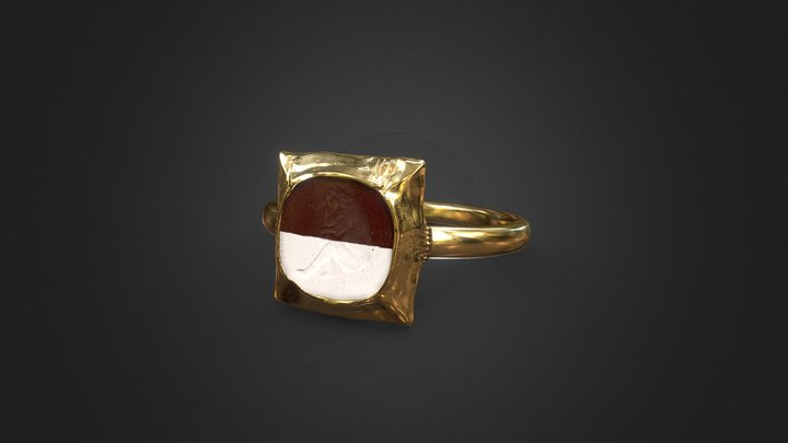 Romeinse ring 4e eeuw na Chr. 3D Model