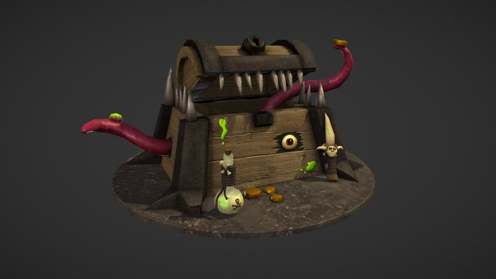 The Creature's Chest 3D Model