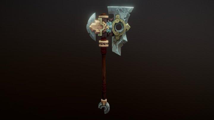 Darksiders Axe 3D Model