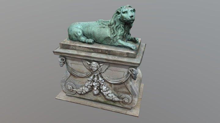 Lion from The King's Garden, København 3D Model