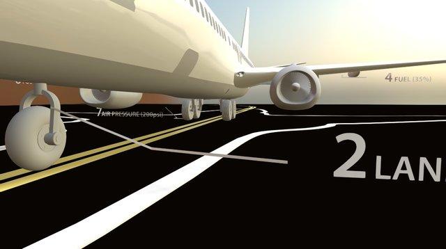 Airplane VR 3D Model