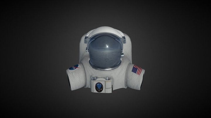 Astronaut Suit and Helmet 3D Model