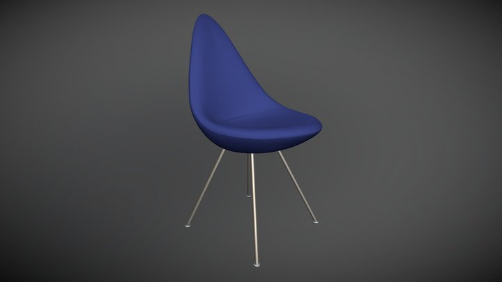 Cadeira Drop Chair Arne Jacobsen 3D Model