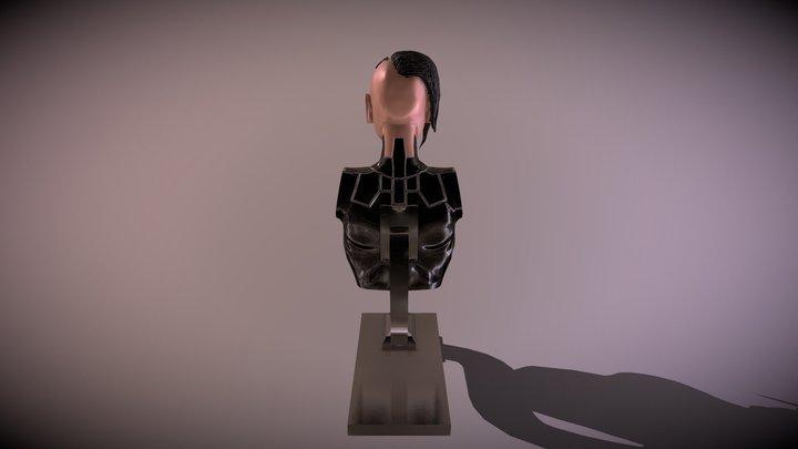 Female CyberPunk Bust 3D Model