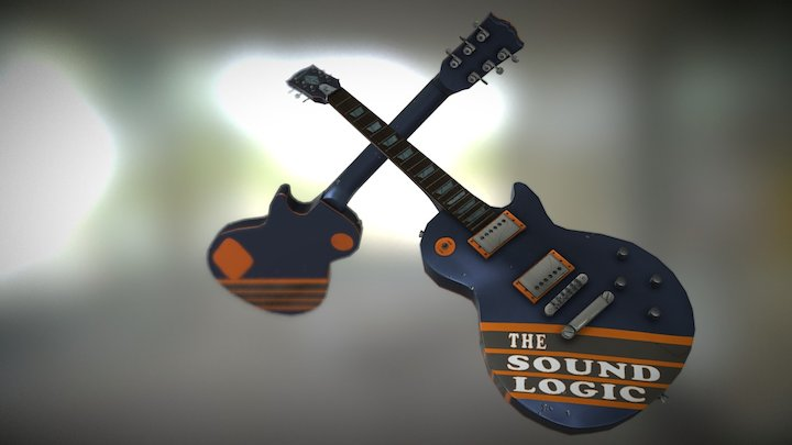 Gibson Dueling Guitar 3D Model